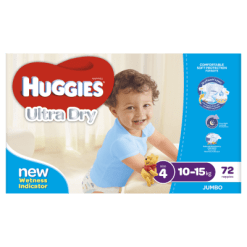 Huggies Ultra Dry Nappies Boy 10-15kg Toddler - 72ea
