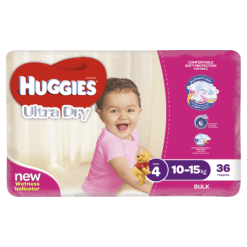 Huggies Ultra Dry Nappies Girl 10-15kg Toddler - 36ea