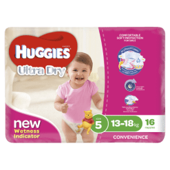 Huggies Ultra Dry Nappies Girls 13-18kg Walker - 16ea