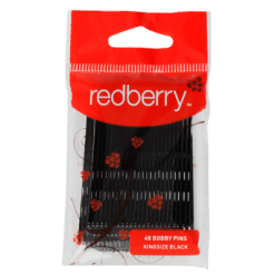 Redberry Kingsize Black Bobby Pins