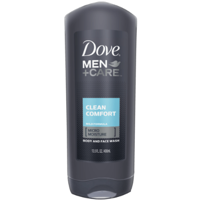 Dove Men Clean Comfort Body and Face Wash - 400ml