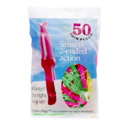 Twin Pegs Smart 2-Ended Action Pegs - 50ea