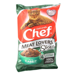 Chef Meat Lovers Rabbit Slices Cat Food - 4pk
