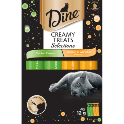Dine Chicken Creamy Treats Selection Cat Food - 4pk