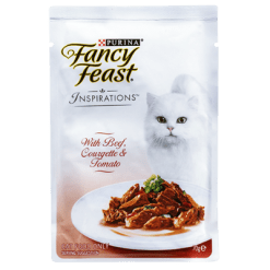 Purina Fancy Feast Inspirations Beef Courgette & Tomato Cat Food - 70g