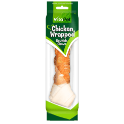 VitaPet Chicken Wrapped Rawhide Chewz