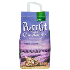 VitaPet Purrfit Lavender Scented Clumping Cat Litter - 3l