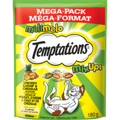 Whiskas Temptations Mix Ups Chicken Catnip & Cheddar Treats For Cats - 180g