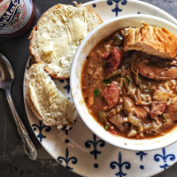 Chicken and Sausage with Okra Gumbo