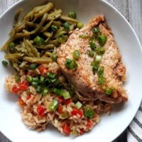 Easy Cajun Seasoned Chicken and Rice
