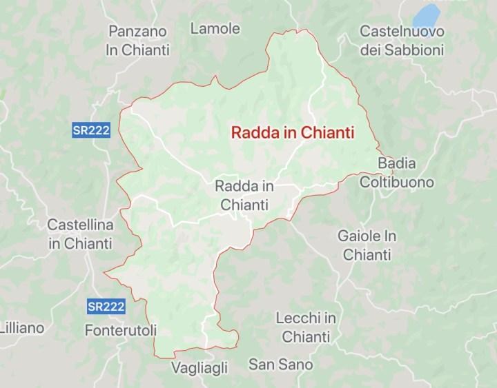 Google maps Radda in Chianti