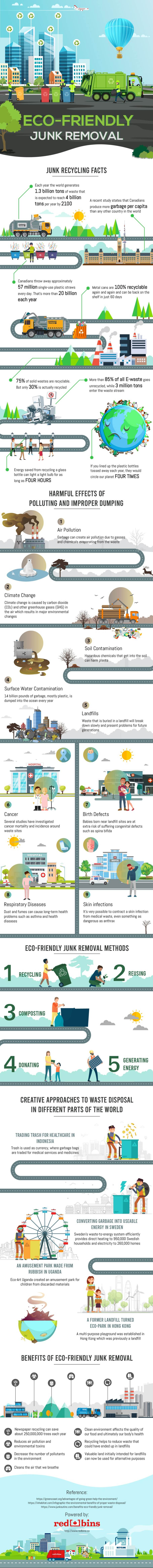 Eco Friendly Junk Removal Infographics