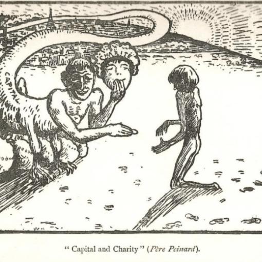 Capital and Charity cartoon