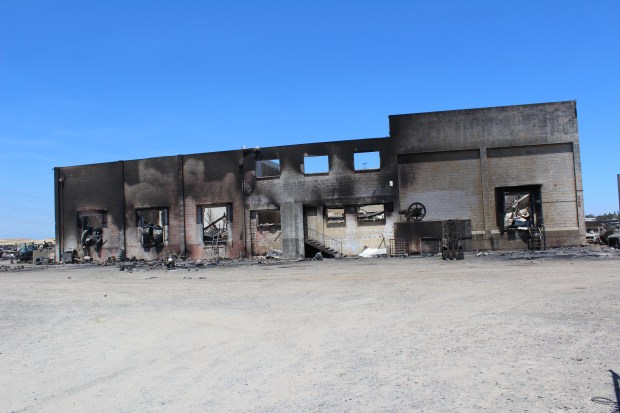 Jake Hutchison - Daily NewsThe former Minch plant was one of several structures destroyed in the Stoll Fire, which started in the area of Baker and Stoll roads on Saturday.