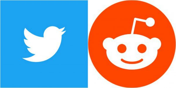 Twitter and Reddit