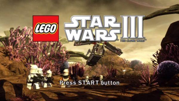 Lego Star Wars Three: The Clone Wars Menu Screen