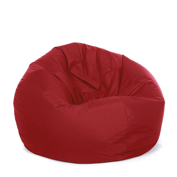 Retro Classic Indoor Outdoor Bean Bag Red 3 Sizes  Red