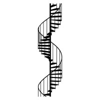 Spiral Staircase Wall Sticker - large spiral staircase ...