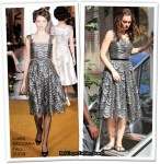 On The Gossip Girl Set With Leighton Meester Wearing Luisa Beccaria