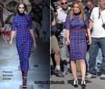 "Runway To ""The Business of Falling in Love"" Set - Hilary Duff In Prada"