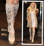 Heidi Montag Wears Miu Miu's Embellished Knee-High Socks
