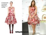 "Runway To ""Vida For Espana"" Launch At Macy's - Eva Mendes In Christian Lacroix"