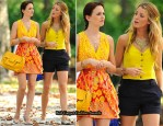 On The Gossip Girl Set With Leighton Meester & Blake Lively