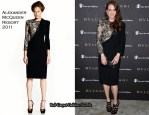 Julianne Moore In Alexander McQueen - The Bvlgari Express for Save The Children Party