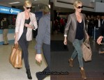 Get Charlize Theron's Chic Airport Look