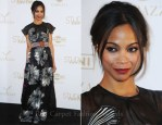 """Zoe Saldana In Vionnet - """"The Tree Of Life"""" Cannes Film Festival Party"""