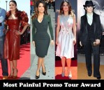 Most Painful Promo Tour Award - Salma Hayek for 'Puss In Boots'
