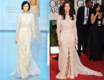 Jessica Biel In Elie Saab Couture - 2012 Golden Globe Awards