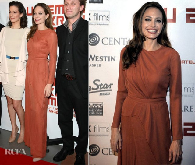 Angelina Jolie In J Mendel In The Land Of Blood And Honey Zagreb Premiere  C2 B7
