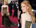 Jessica Chastain In Alexander McQueen - 2012 Oscars