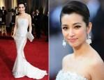 Li Bingbing In Georges Chakra - 2012 Oscars