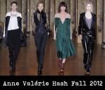 Anne Valérie Hash Fall 2012