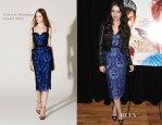 Lily Collins In Collette Dinnigan - 'Meet The Actor' Series