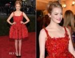 Emma Stone In Lanvin - 2012 Met Gala