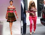 Beyonce Knowles In Carven & Vionnet - Shopping In Paris