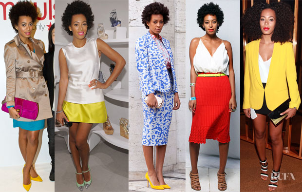 Solange Knowles LovesYellow Red Carpet Fashion Awards