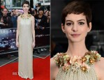 Anne Hathaway In Gucci - 'The Dark Knight Rises' London Premiere