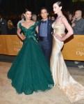 Crystal Renn and Erin O'Connor In Zac Posen - 2012 Metropolitan Opera Season Opening Night