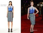 Holliday Grainger In Peter Pilotto - 'Great Expectations' London Film Festival Premiere