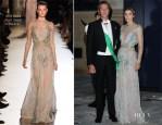 Princess Clotilde of Savoy In Elie Saab Couture - Royal Wedding