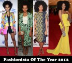 Fashionista Of The Year 2012 - Solange Knowles