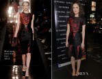 Rose Byrne In Monique Lhuillier - Sephora Times Square Store Reopening