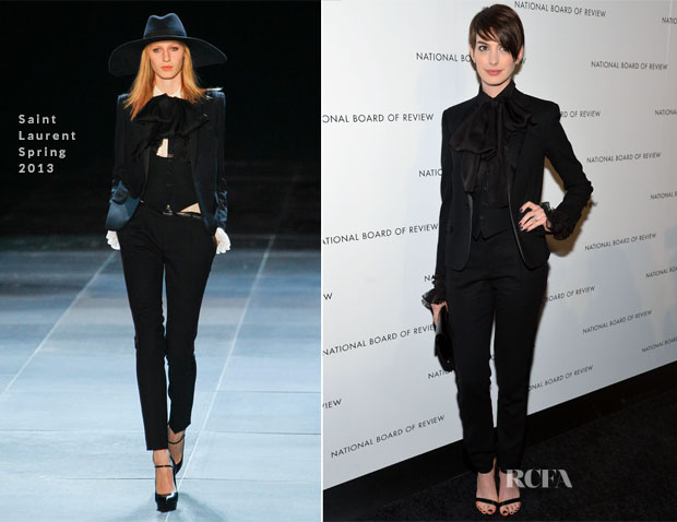 Anne Hathaway In Saint Laurent - 2013 National Board Of Review Awards