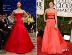 Jennifer Lawrence In Christian Dior Couture - 2013 Golden Globe Awards