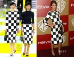 Jessica Alba In Louis Vuitton - Warner Bros. And InStyle Golden Globe Awards After Party