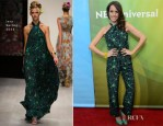 Louise Roe In Issa - NBC Universal's  '2013 Winter TCA Tour'